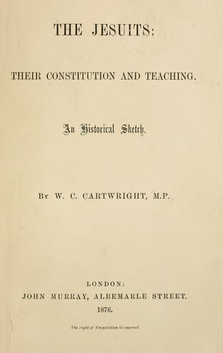 The Jesuits by Cartwright, W. C.