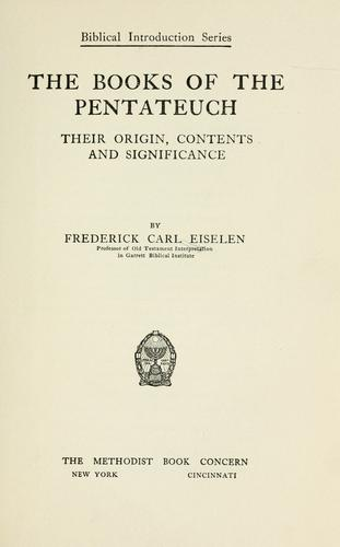 The books of the Pentateuch