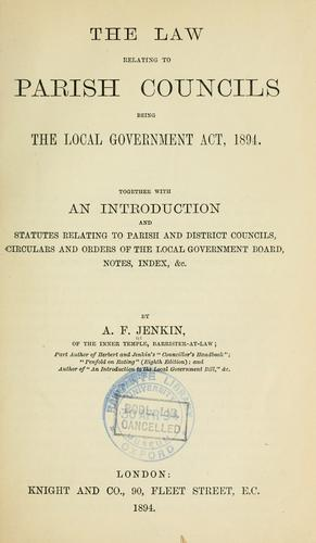 The law relating to parish councils by Austin Fleeming Jenkin