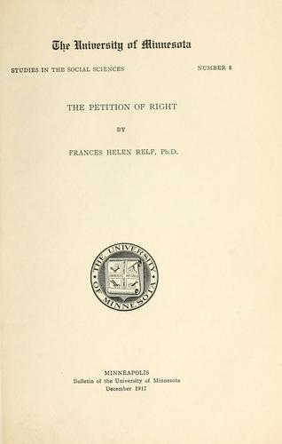 The petition of right by Relf, Frances Helen