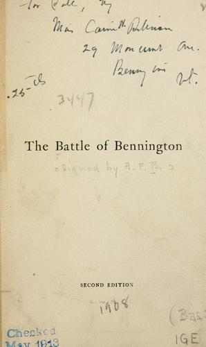 The battle of Bennington by British Academy of Fencing.