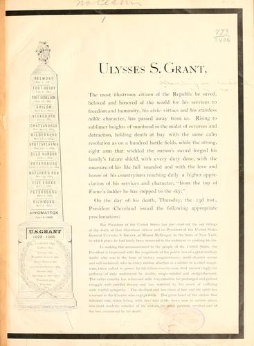 Ulysses S. Grant by Michigan Central Railroad Company.