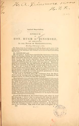 Against imperialism by H. A. Dinsmore