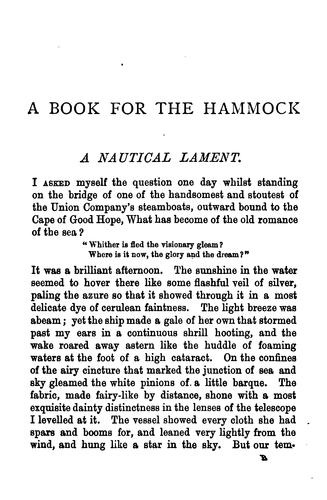 A book for the hammock by William Clark Russell