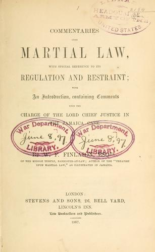 Commentaries upon martial law
